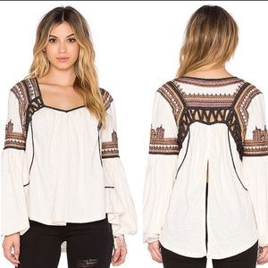 FREE PEOPLE | Snow Kisses Blouse Open Back